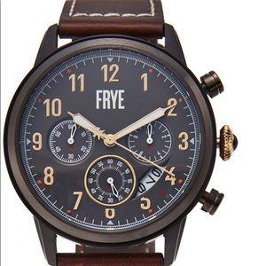 Frye men's watch gunmetal brown water resistant